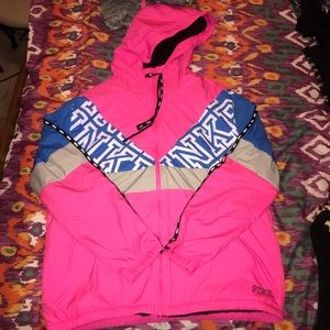 NWT VS PINK Sherpa-lines Anorak XS/S